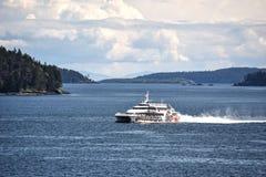Transbordador rápido, isla de Vancouver Fotos de archivo