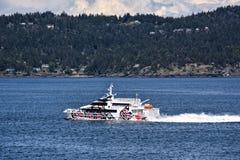 Transbordador rápido, isla de Vancouver Imagenes de archivo
