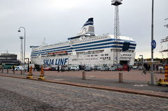 Transbordador Silja Line en Finlandia Foto de archivo libre de regalías