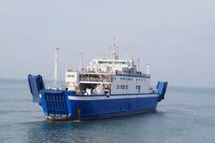Transbordador a través del estrecho de Kerch foto de archivo