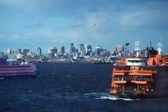 Transbordadores de la isla de Staten Imagen de archivo libre de regalías