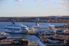 Transbordadores en puerto Imagen de archivo