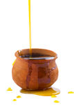 Transbordamento Honey Pot fotografia de stock royalty free