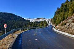 Transbucegi road from the Bucegi mountains Stock Photos