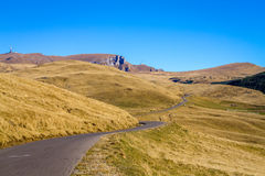 Transbucegi ,Romania, the road from the Bucegi mountains. Romania , Bucegi mountains . Transbucegi , the road that crosses the Bucegi plateau at an altitude of Stock Images