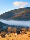 Transcarpathian Mountains village Stock Image