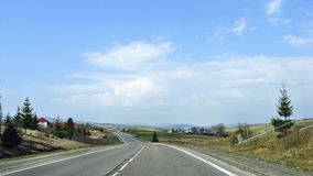 transcarpathian ukraine för carpathian för crossingintermountainliggande region för berg sikt Arkivbild