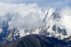 Transcaucasia-Berge, Svaneti, populäre Reitroute, Georgia Lizenzfreies Stockfoto