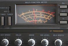 Transceiver. The measuring instrument amateur radio transceiver Stock Photo