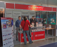 Transcend company booth at CEE 2015, the largest electronics trade show in Ukraine Stock Photography