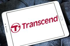 Transcend Information company logo. Logo of Transcend Information company on samsung tablet. Transcend is a Taiwanese company that manufactures and distributes Royalty Free Stock Images
