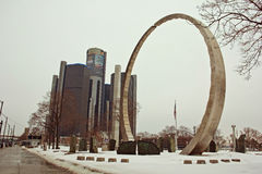 Transcending Ring in Downtown Detroit. At Hart Plaza royalty free stock image