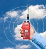 Transceptor vermelho do rádio portátil Foto de Stock