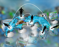 Transcontinental transmission of data Stock Image