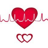 Transcription rouge de coeur Photos libres de droits