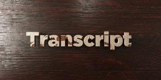 Transcription - titre en bois sale sur l'érable - image courante gratuite de redevance rendue par 3D illustration stock