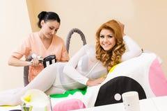 Transdermal massage fotografering för bildbyråer