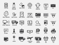 Transection, logotipo de la compra y de la venta, ordenador y móvil en línea Foto de archivo libre de regalías