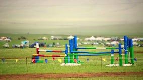 transenna del cavallo che salta durante il festival di Naadam video d archivio