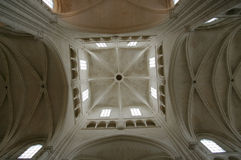 Transept crossing gothic church laon Stock Images