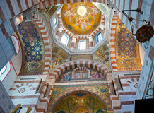 The transept of Notre-Dame de la Garde, Marseille Stock Photo