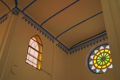 Transept roof of church of Saint Francis Xavier Melaka Malaysia royalty free stock photography