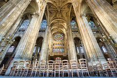 Transept with Vaulted Arches, Church of Saint Eustache, Paris, France Stock Photo