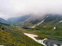 Transfăgărășan. One of the most beautiful road in Europe royalty free stock images