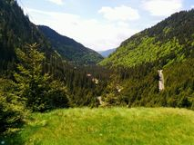 Transfăgărășan. One of the most beautiful road in Europe royalty free stock photo