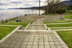 Transférez le parc et l'amphithéâtre de plage dans Ladysmith, Vancouver ISL Images stock