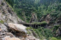 Transfagaras bergväg, Rumänien fotografering för bildbyråer