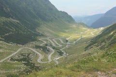 Transfagarasan路在特兰西瓦尼亚罗马尼亚 免版税图库摄影