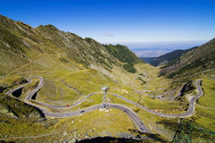 Transfagarasan -最著名的路在罗马尼亚 库存照片