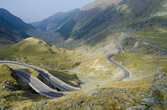 Transfagarasan. The most spectacular road in Romania, reaching an altitude of 2042m.Crosses the Fagaras Mountains royalty free stock photos