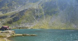 Transfagarasan Balea See in Rumänien stockfoto