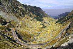 Transfagarasan - best road in the world. Transfagarasan - described as the most amazing road - a highway over the Carpathian Mountains, Romania stock photos