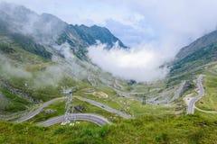 Transfagarasan cloud Stock Photo