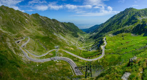 Transfagarasan droga i Balea jezioro, Sibiu okręg administracyjny, Transylvania, Rumunia Obraz Royalty Free
