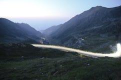 Transfagarasan droga przy zmierzchem zdjęcie royalty free