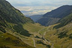 Transfagarasan droga, Rumuńscy Carpathians Obrazy Stock