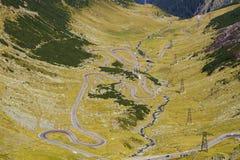Transfagarasan - a estrada a mais espetacular em Roménia Fotografia de Stock Royalty Free