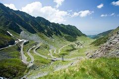 Transfagarasan, a estrada a mais famosa em Romania Fotografia de Stock
