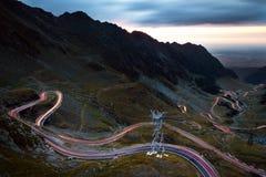 Transfagarasan Highway By Night Stock Photos
