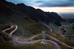 Transfagarasan Highway by night Stock Photos