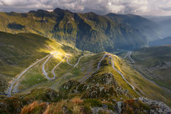 Transfagarasan highway in Romania Royalty Free Stock Image