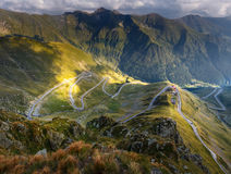 Transfagarasan highway in Romania Royalty Free Stock Photo