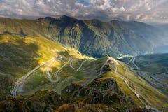 Transfagarasan highway in Romania Stock Photos