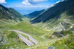 Transfagarasan highway. Trasnfagarasan with Aprilia Pegaso Strada royalty free stock photography