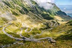 Transfagarasan huvudväg, den mest härliga vägen i Europa, Rumänien Transfagarashan arkivbilder