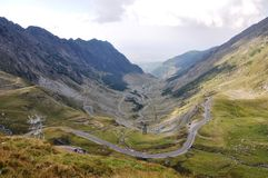 Transfagarasan. The most besutifull road in the world. Located in the Fagaras Mountains,Transylvania Stock Images